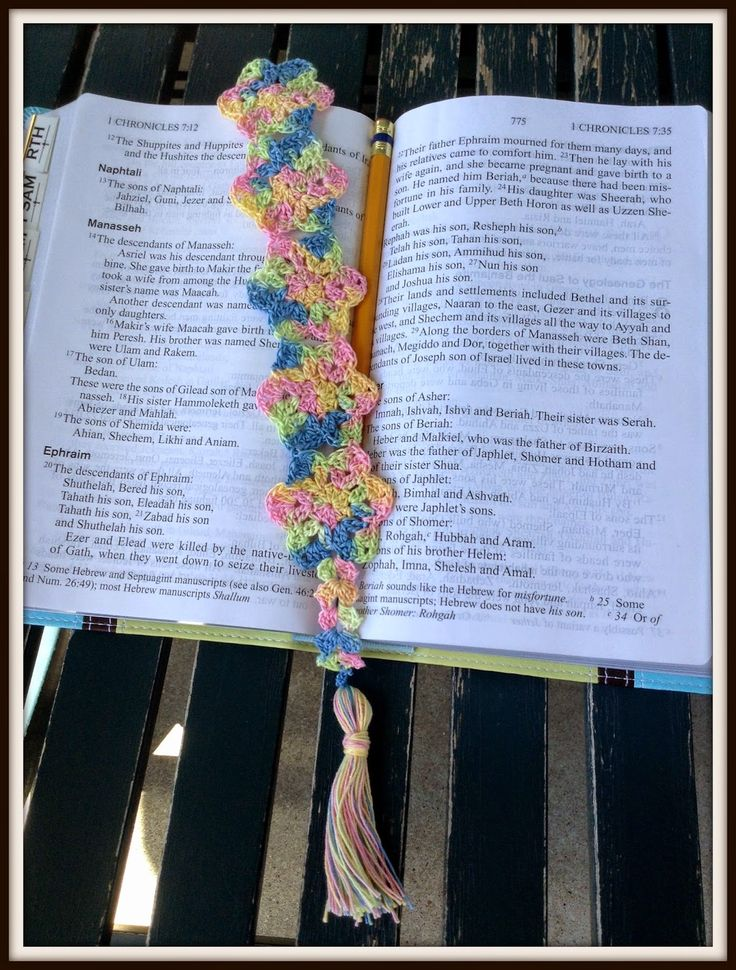 The Shtick I Do: Flower Motif Bookmark with Pattern