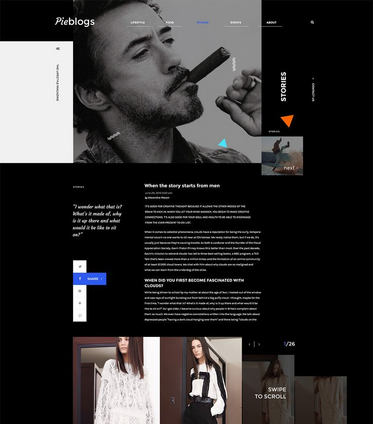 Pieblogs on Behance
