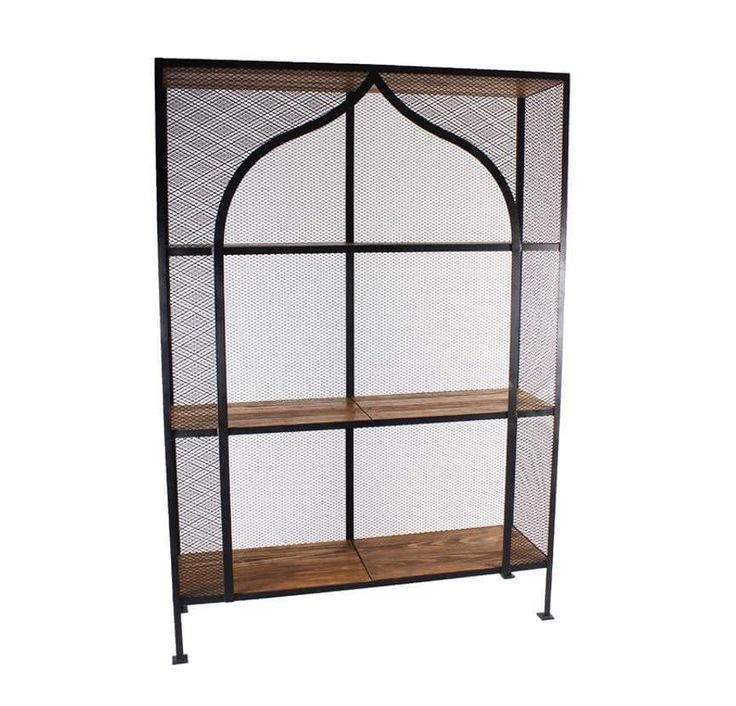 Buy Metal Mesh Etagere by Mahuel Casa - Quick Ship designer Furniture from Dering Hall's collection of Contemporary Rustic / Folk Industrial Bookcases & Étageres.