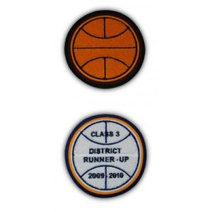 This patch is for all your basketball accomplishments. This would look great on a letterman jacket.