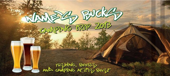 bucks stubby holders - camping trip