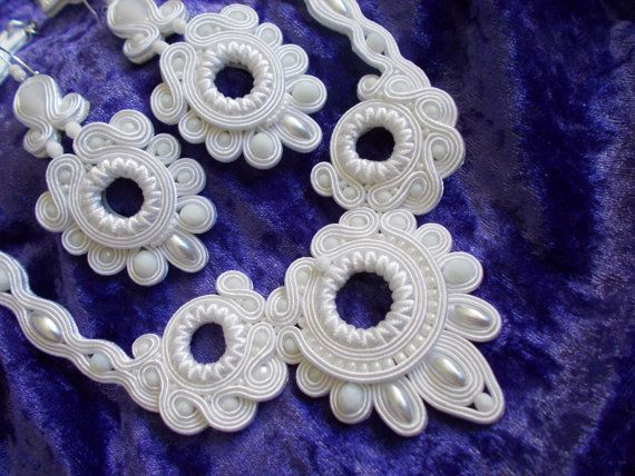 Beautiful Handmade Soutache Necklace and by DesignsByDenisa