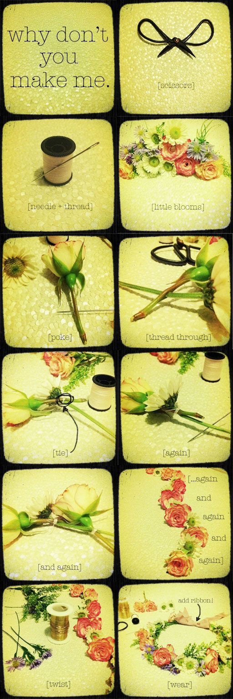 Flower crown tutorial.