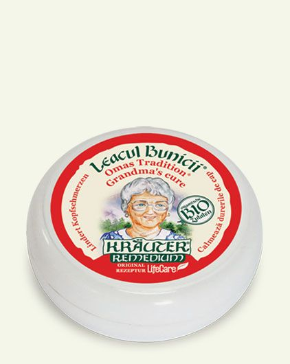 Mint, Rosemary, Eucalyptus, Camphor and Almonds combine all their healing powers to help calm headaches and release respiratory ways in this Anti-Headache Herb Balm: http://lifecare.eu.com/product/krauter-anti-headache-bio-herb-balm-grandmaos-cure/.