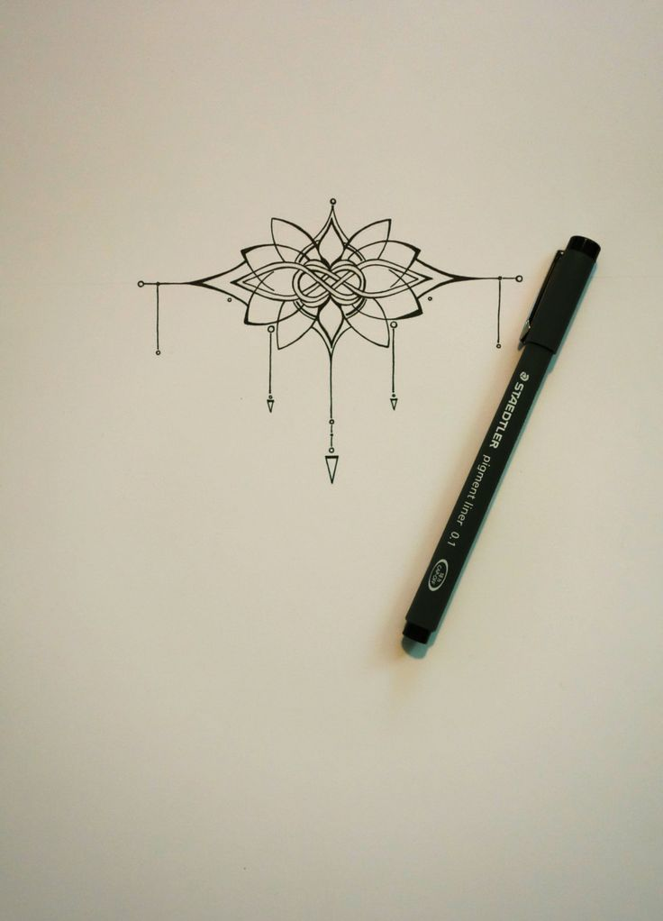 pretty Knot and Lotus Tattoo design