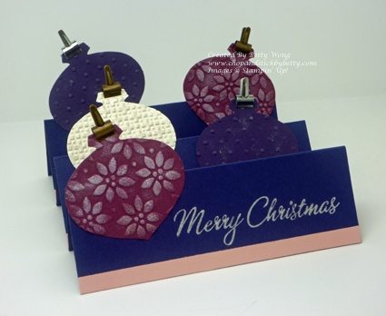 Stampin up DIY Christmas card Ornament punch: Card Idea, Card Ornaments, Diy'S Christmas Card, Stampin Card, Diy'S Projects, Card Stampin, Christmas Wint Card, Ornaments Punch, Diy Christmas Cards