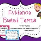 This set contains evidence based terms to use in whole class instruction, guided reading groups, literature circles etc.! The common core is increa...