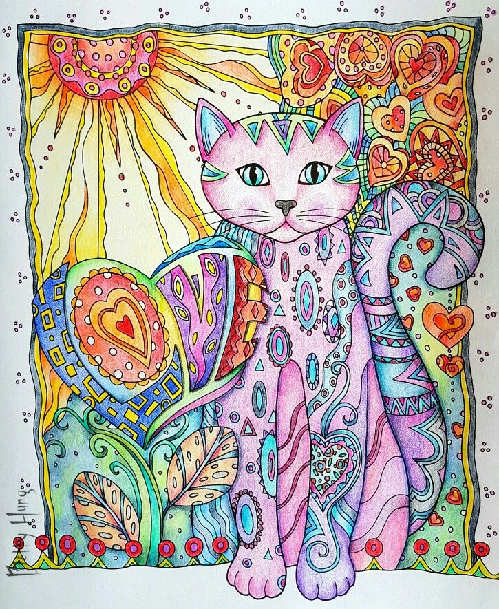 The LOVE Cat From Marjorie Sarnats Creative Cats