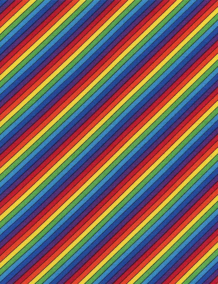 PlushAddict - Timeless Treasures - Diagonal Stripe Multi - cotton fabric