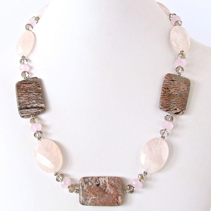 Open Plains: Chunky Rose Quartz Necklace