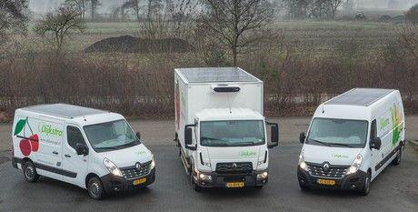 Dijkstra AGF neemt bedrijfswagens met zonne-energie koeling in gebruik