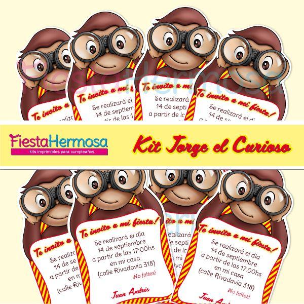 Fiesta Hermosa: Kit imprimible Jorge el Curioso