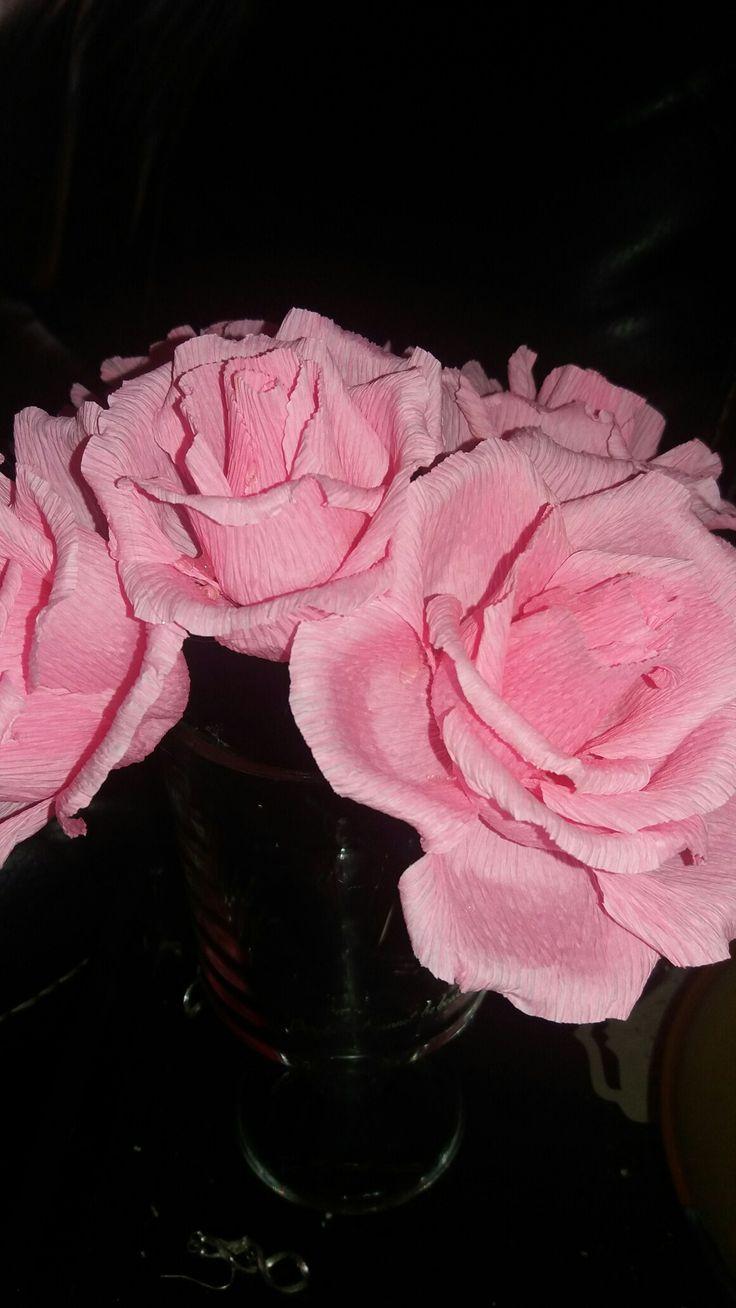 Italian crepe roses, Durban paper flowers