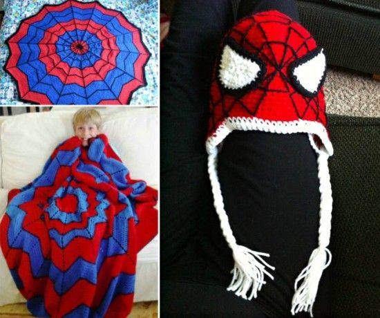 Spiderman Knitted Blanket Pattern Free Tutorial | Patterns ...