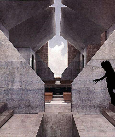 Nosferatu vs Luis Kahn. Hurva synagogue project