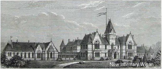 Old picture of Wigan infirmary