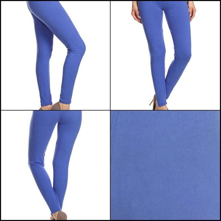 Leggings Depot Ultra Soft Basic Solid Plain Legging Pants One Size Royal Blue #LeggingsDepot #Doesnotapply