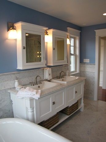 Love the style of the vanity console.