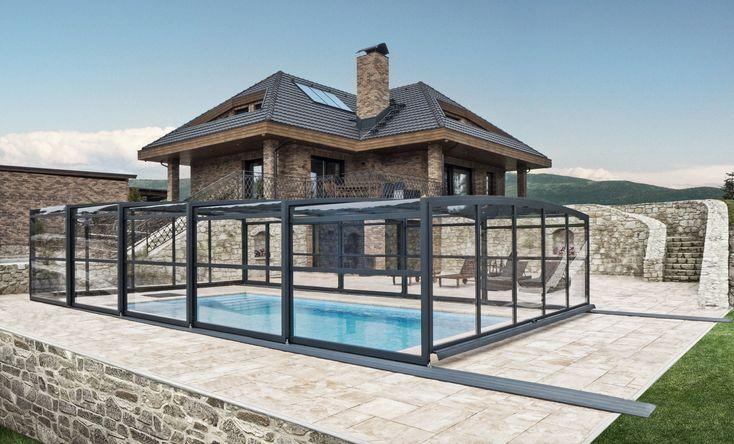 Zastřešení bazénů POPP - PRESTIGE P3 - čisté linie, elegantní odstíny zastřešení dokonale dotváří jakýkoliv architektonický styl Vašeho domu