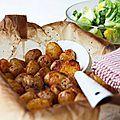 Nous adorons particulièrement lespetites pommes de terre rôties.Leur chair fondante et moelleuse est protégée par une fine...