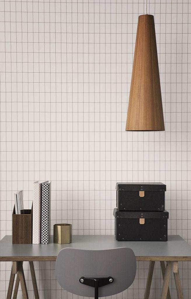 FERM Living Wallpaper Grid Black and White | Klevering