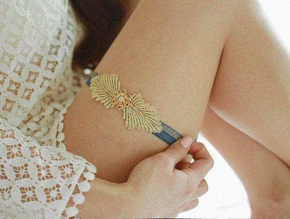 Bridal garter, something blue garter, gold garter, wedding garter - style 465 on Etsy, $39.83 AUD