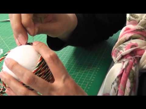 bola de navidad patchwork sin aguja - YouTube