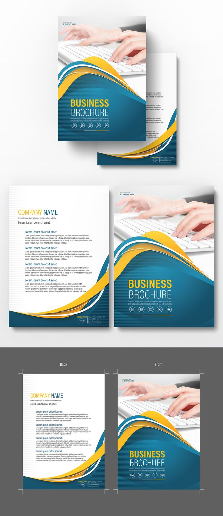Brochure Cover Layout with Blue and Yellow Accents 5 - image | Adobe Stock  #Brochure #Business #Proposal #Booklet #Flyer #Template #Design #Layout #Cover #Book #Booklet #A4 #Annual #Report| Brochure template | Brochure design template | Flyers | Template | Brochures | Flyer Background | Background design | Business Proposal | Proposal Design | Booklet | Professional | Professional - Proposal - Brochure - Template