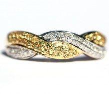 Diamond and Yellow Sapphire Love Plait, Elegant and Practical. 18YWG   #DiamondsExclusive