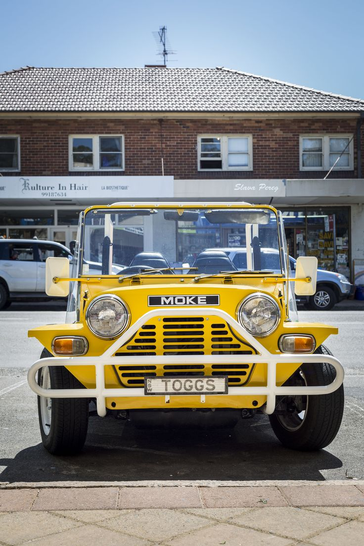 Spotted this cool #yellow #Moke #car at #Avalon #beach, #Sydney #Australia 2014