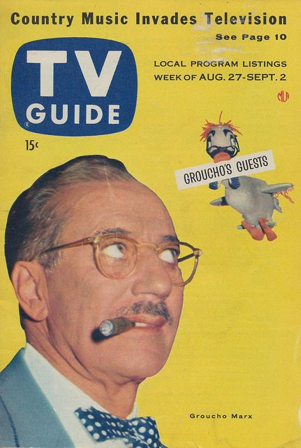 TV Guide - August 27 - September 2, 1955 Groucho Marx by The Pie Shops, via Flickr