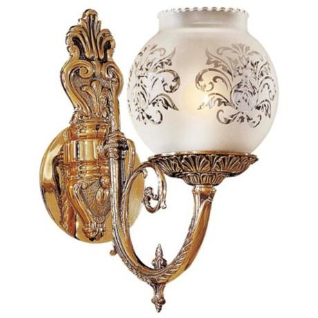 8 best victorian wall sconces lighting images on pinterest metropolitan collection etched glass 12 high wall sconce aloadofball Images