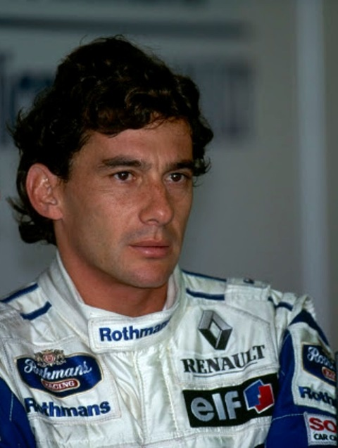 Ayrton Senna quando guidava per la Scuderia Williams