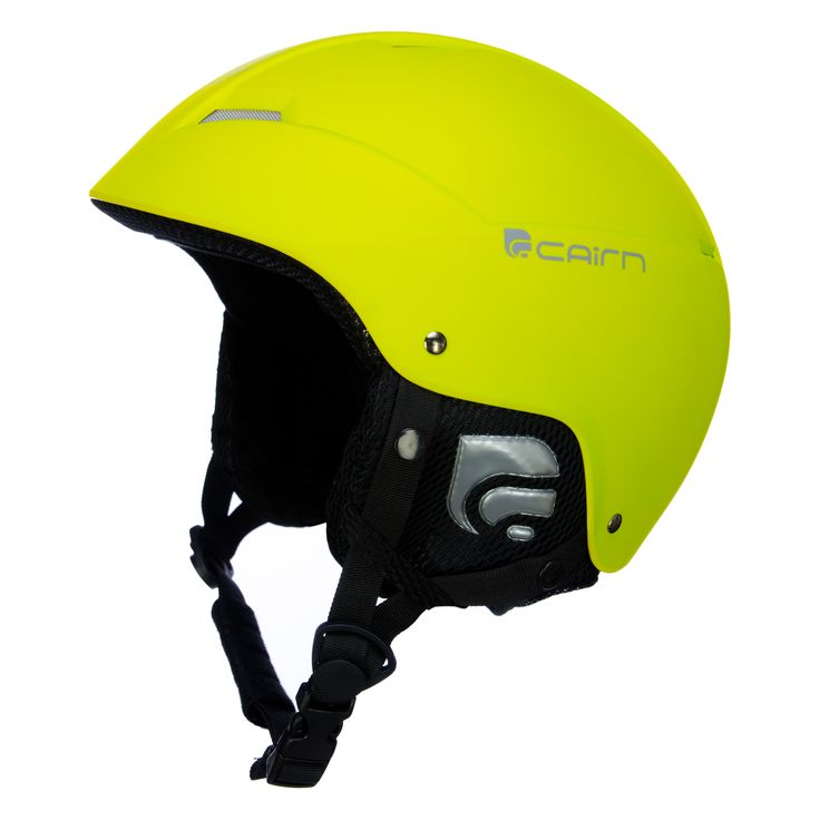 Cairn, Android J ski helmet, kids, matt acid green Design and safety combined in one helmet! This junior helmet has a comfortble soft inner lining and features a size adjustable system.  It comes with a pouch for safe storage of the helmet.