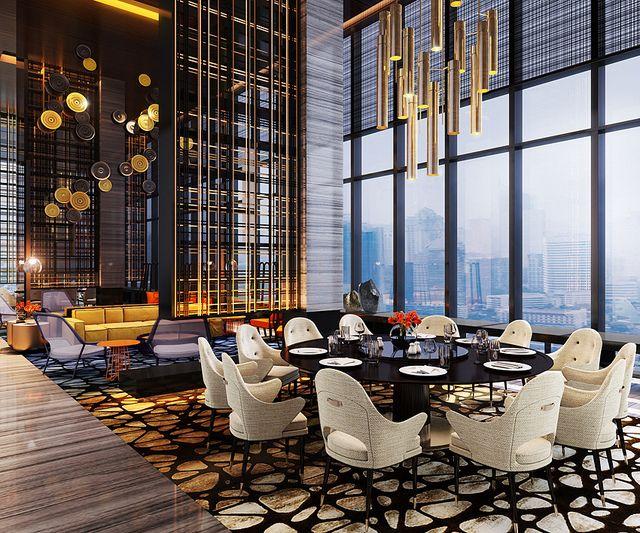 Cwj2 w hotel mtroom flickr photo sharing restaurant for Tea room interior design ideas