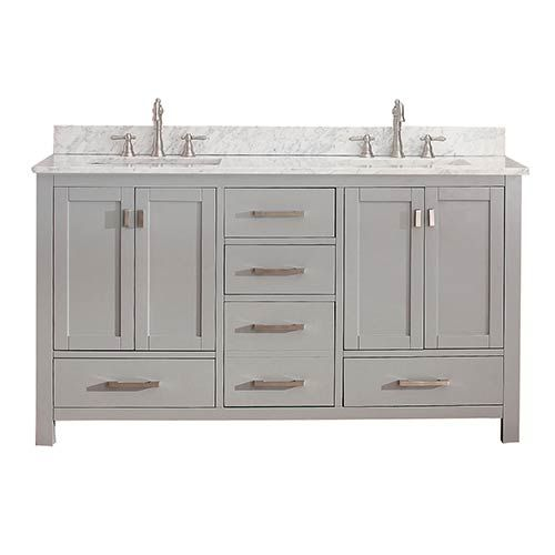 double vanity one sink. Avanity Modero Chilled Gray 60 Inch Double Vanity Only Best 25  inch vanity ideas on Pinterest Master
