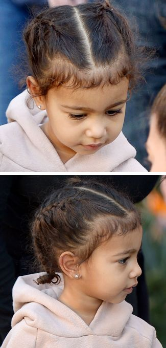 So North West's hair did *not* look like this at the weekend...