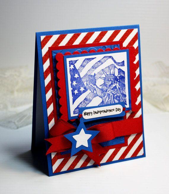 july 4th handmade card  3d greeting card  425 x 55