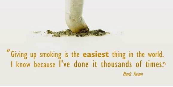 Giving up smoking is the easiest thing in the world . I know because I've done it thousands of times  #PictureQuote by #MarkTwain  View more #quotes @ http://quotes-lover.com/  #Funny, #Smile, #Smoking  If you like it ♥Share it♥  with your friends.