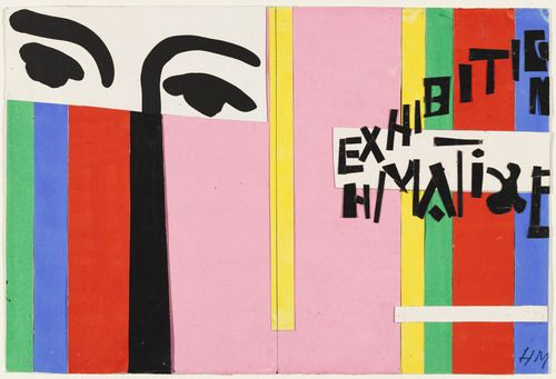 """Design for cover of exhibition catalogue """"Henri Matisse"""", 1951"""