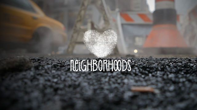 neighborhood by Vera Danilina. Two contrary places that are connected by stylistic features. It is about the metropolis New York City (USA)