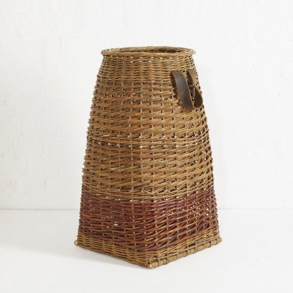 Laundry Basket in Burnt Umber by Annemarie O'Sullivan | The New Craftsmen