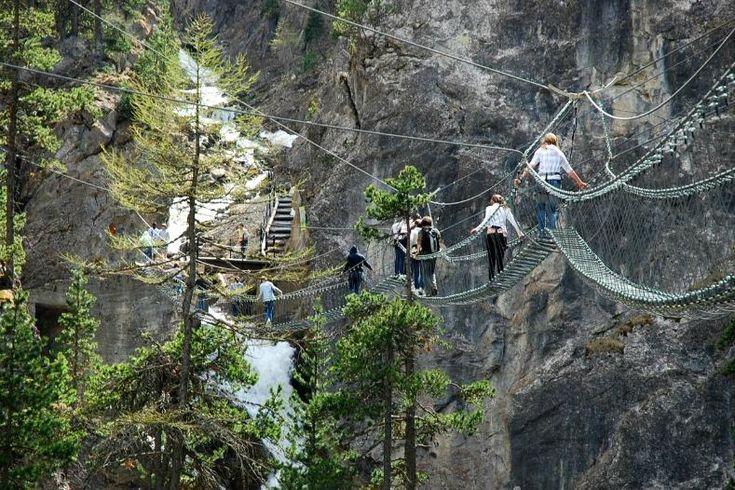 TripBucket - Walk across Tibetan Bridge over San Gervasio Gorge, Claviere, Italy