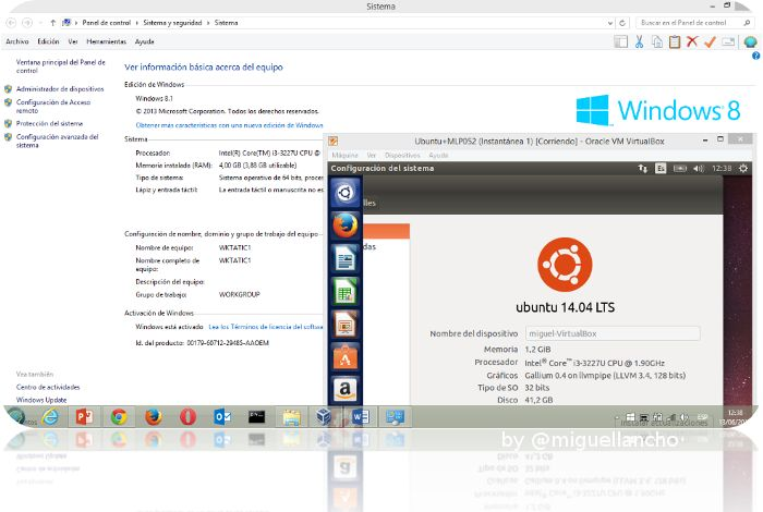 Máquinas Virtuales con Virtual Box:  Ubuntu 14.04 sobre Windows 8.1