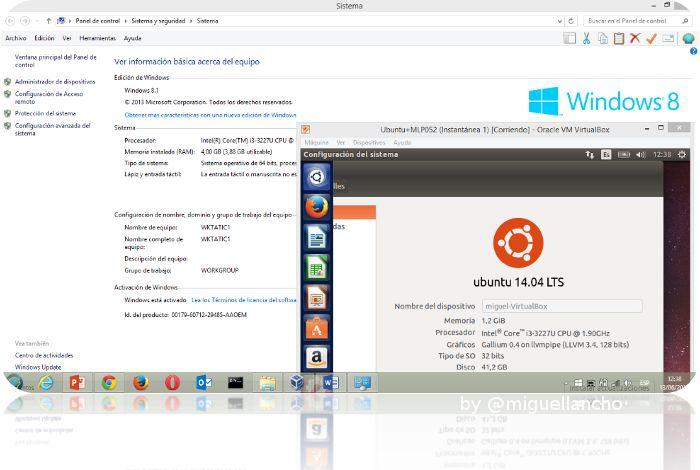 Máquinas Virtuales con Virtual Box:  Ubuntu 14.04 sobre Windows 8.1