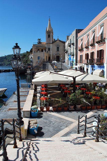 "Marina Corta, Lipari,on Aeolian Islands, Sicily ... and its so pleasant restaurant ""La Vela""..."