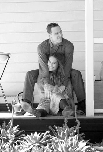 "Michael Fassbender and his real life girlfriend Alicia Vikander in the new movie ""The Light Between Oceans"" --- ​""With love forever and ever and ever ...."""
