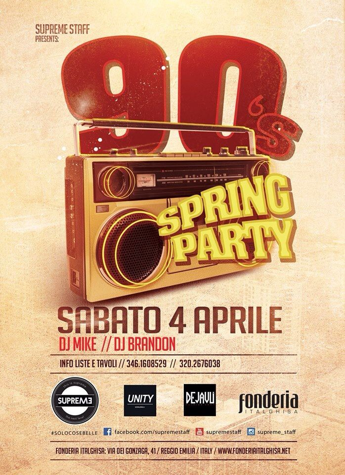 Sabato 4aprile2015 #90sParty #SpringParty #HipHop #supreme #supremestaff #dimitrimazzoni #solocosebelle