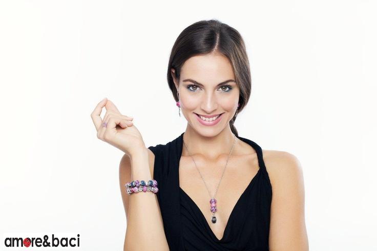 Amore & Baci 2013 campaign - FUCHSIA beads - earrings, bracelets, rings, necklace