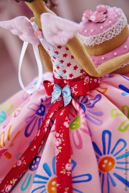 Куклы Тильды ручной работы. Ярмарка Мастеров - ручная работа Феечка поздравительная с днём рождения. Handmade.